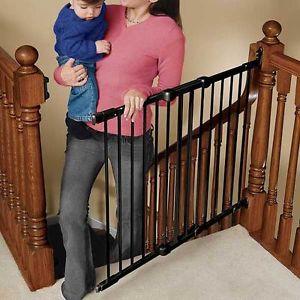 Kidco safeway puerta seguridad escalera negra tienda tu - Puerta escalera ninos ...