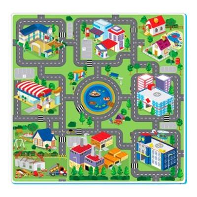 Alfombra de goma eva ciudad 93cm x 93cm tienda tu beb - Alfombras infantiles para jugar ...