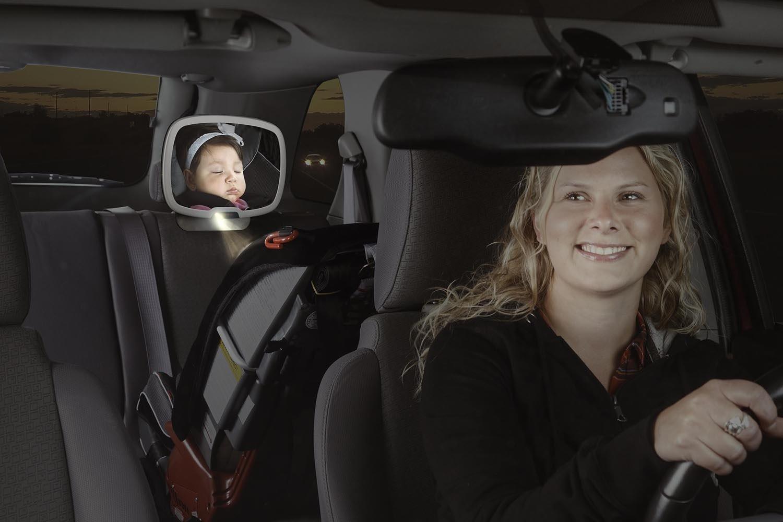 Diono espejo para auto beb con luz tienda tu beb seguro for Espejo para ver al bebe